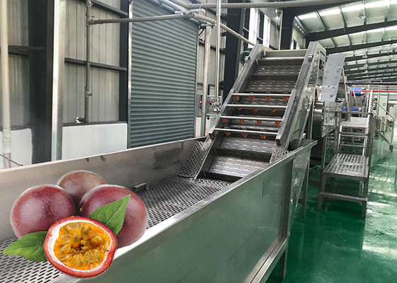 Stainless Steel Passion Fruit Pulping Machine 1500 T / Day Good Performance