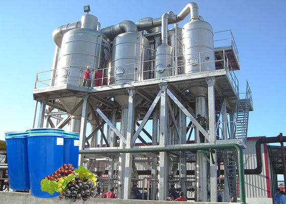 Grape Juice Concentrate Food Processing Machine Food Grade SS304 ISO9001