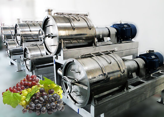High Juice Yeild Grape Juice Processing Line Easy Operation 1 - 20T/H Capacity